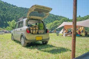 折りたたみコンテナボックスはキャンプギアの車載・運搬・収納に便利